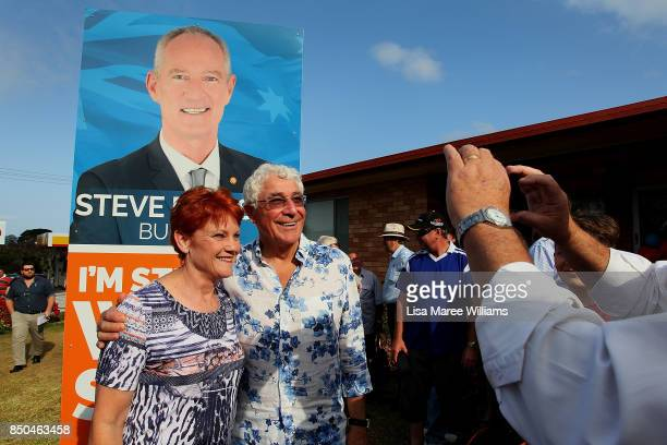 One Nation Senator Pauline Hanson meets local supporters during a barbeque in Buderim on September 21 2017 in Sunshine Coast Australia Under the One...