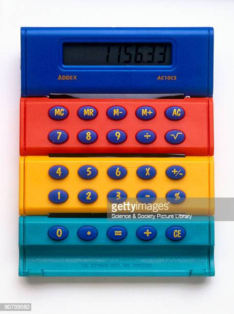 One of a number of gifts from the Science Museum's gift catalogue of Autumn 2000 'When you have finished your sums just roll this calculator up and...