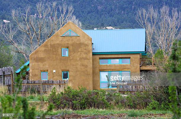 One of actress Julia Roberts's homes at her ranch is seen on July 4 2002 in Taos New Mexico Roberts married cameraman Danny Moder at this ranch...