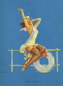 One of famed pinup artist Gil Elvgren's paintings Ankles Aweigh 1939