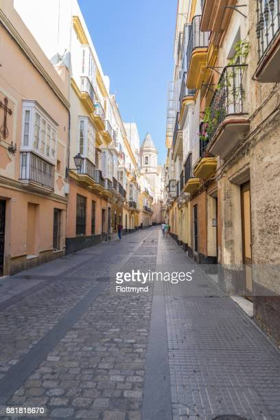One of many small streets in Cádiz, Spain