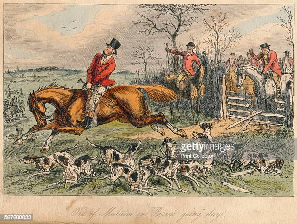 'One of Multum in Parvo's going days' 1865 From Mr Facey Romford's Hounds written by Robert Smith Surtees illustrated by John Leech and HK Phiz...