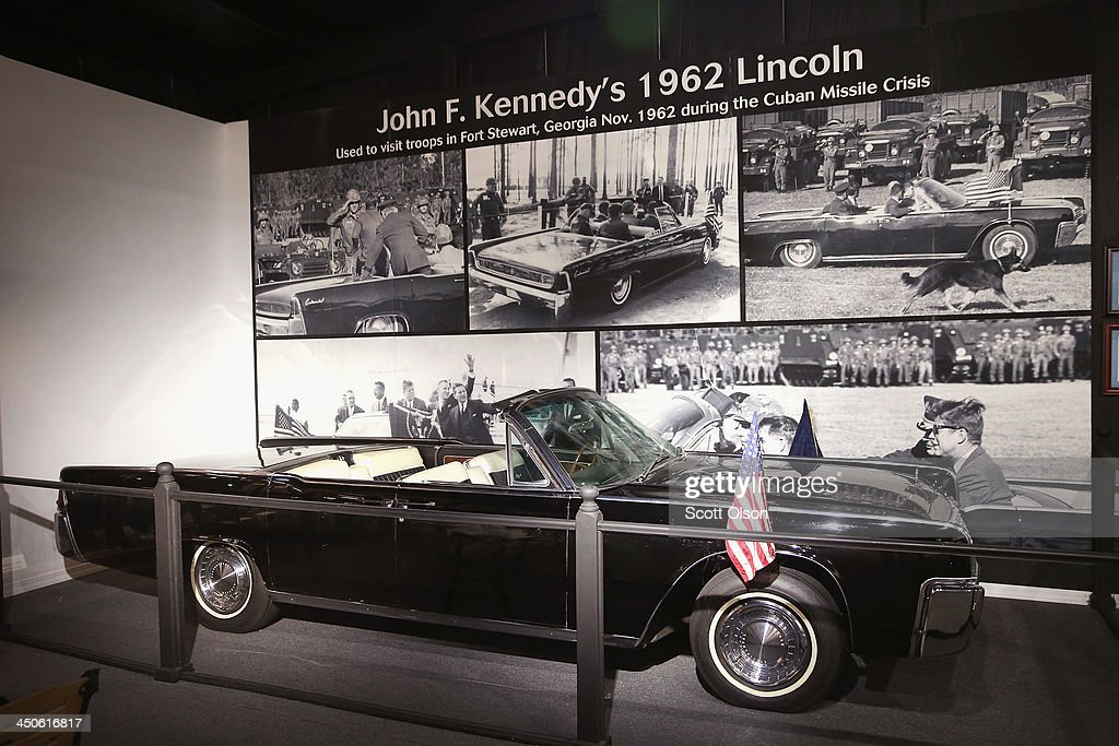 One of President John F. Kennedy's cars is displayed at the Historic Auto Attractions museum on November 19, 2013 in Roscoe, Illinois. The museum has a large collection of items from Kennedy's life and death on display. It has been fifty years since John F. Kennedy was assassinated on November 22, 1963.