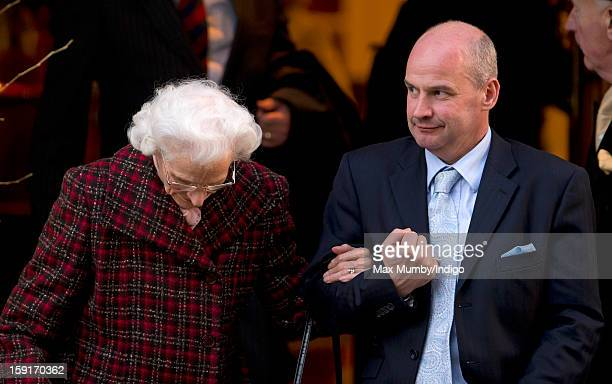 One of Queen Elizabeth II's footmen leaves the Goring Hotel after attending a Christmas Lunch hosted by Queen Elizabeth II for her close members of...
