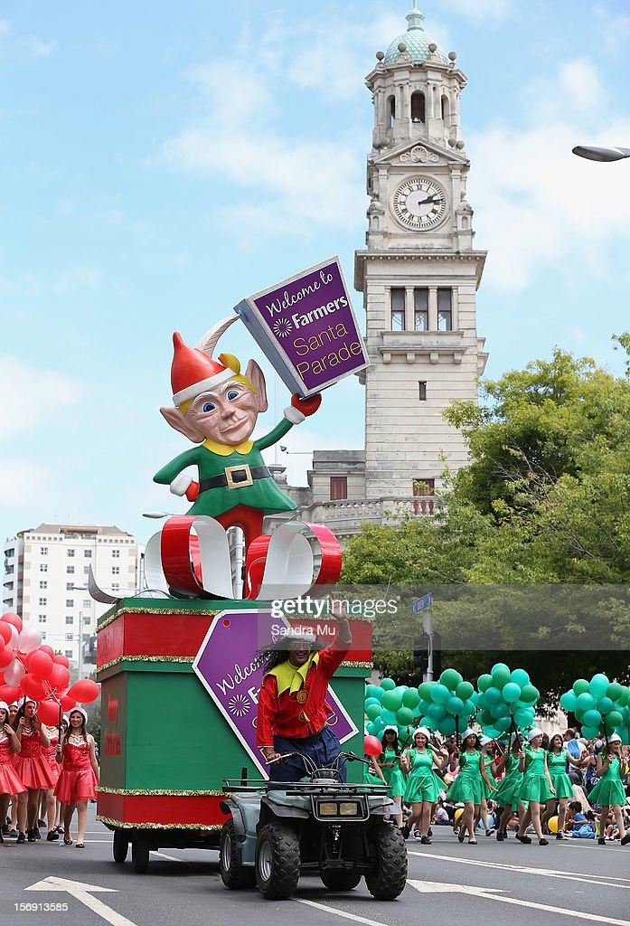 One of Santa's Elves features in the annual Farmers Santa Parade on November 25, 2012 in Auckland, New Zealand. For 78 years the Farmers Santa Parade has brought joy to the children of Auckland marking the start of the Christmas season.