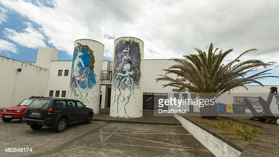 One of streets in center of Ponta Delgada : Stock Photo