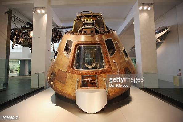 One of the 10 nominations for the greatest inventions the Apollo 10 capsule is displayed at the Science Museum on November 4 2009 in London England...