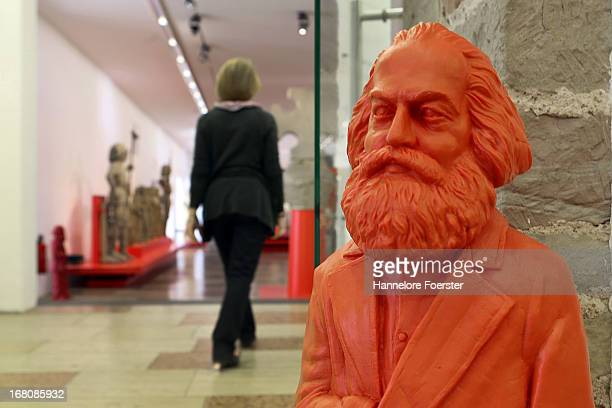 One of the 500 one meter tall statues of German political thinker Karl Marx stands in the museum on May 5 2013 in Trier Germany The statues created...