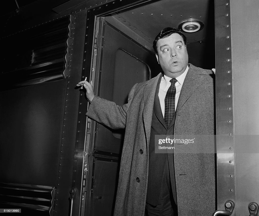 One of the arrivals in our fair city today was no stranger to the big town. He was, and still is, <a gi-track='captionPersonalityLinkClicked' href=/galleries/search?phrase=Jackie+Gleason&family=editorial&specificpeople=203285 ng-click='$event.stopPropagation()'>Jackie Gleason</a>, TV comic, whom you see here looking like the man of distinction. That's what he is, too. He recently signed a contract that'll pay him a cool ('cool,' says the fellow) $11,000,000 for three years work...being funny, that is.