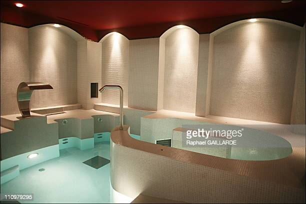 One of the biggest attraction of the 700m2 Uspa is this room at the Fouquet's hotel Clients can relax in the pools after the hammam or sauna or after...
