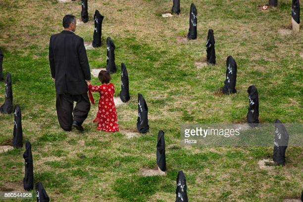 One of the cemeteries of the city where the unidentified bodies of the 5000 victims of the chemical attack of Halabja are buried Faithful to the...
