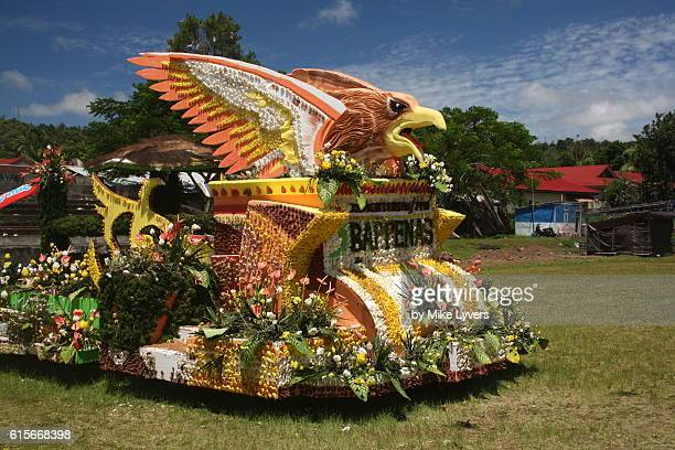 One of the colorful floats of the Tomohon Flower Festival 2016