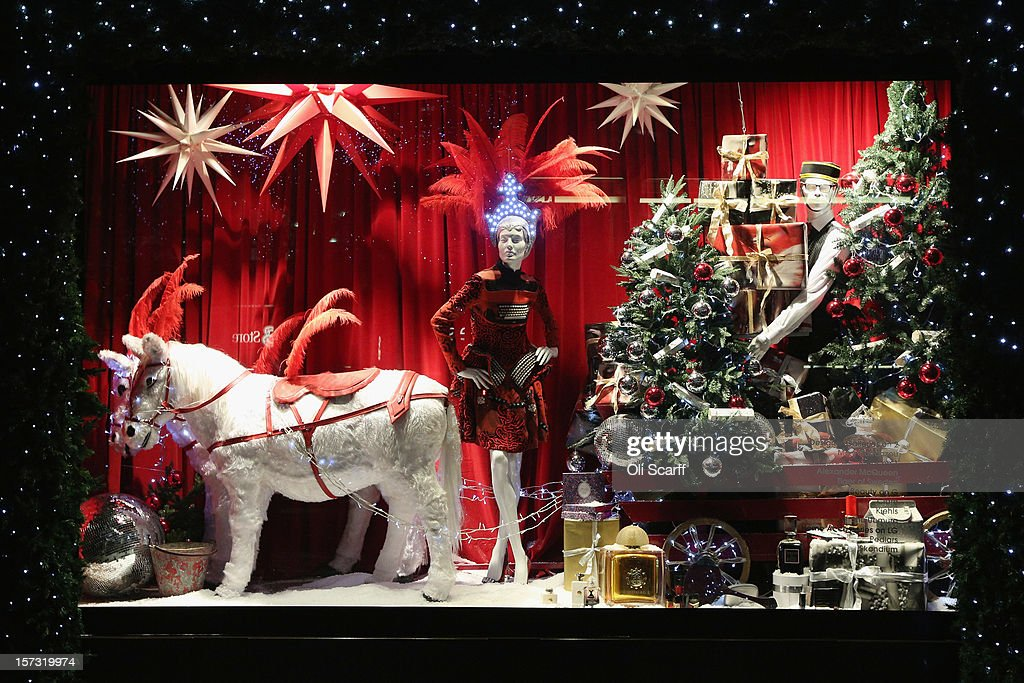 One of the decorated Christmas window displays in Selfridges department store on Oxford Street on November 26, 2012 in London, England. Many prominent retailers in the capital have produced elaborate festive window displays to entice Christmas shoppers with less than one calendar month remaining before Christmas Day.