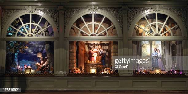 One of the decorated Christmas window displays in the Fortnum Mason department store on Piccadilly on November 28 2012 in London England Many...