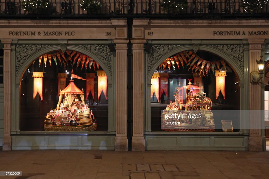 One of the decorated Christmas window displays in the Fortnum & Mason department store on Piccadilly on November 28, 2012 in London, England. Many prominent retailers in the capital have produced elaborate festive window displays to entice Christmas shoppers with less than one calendar month remaining before Christmas Day.
