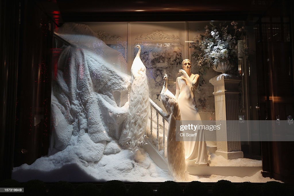One of the decorated Christmas window displays in the Ralph Lauren shop on Bond Street on November 26, 2012 in London, England. Many prominent retailers in the capital have produced elaborate festive window displays to entice Christmas shoppers with less than one calendar month remaining before Christmas Day.