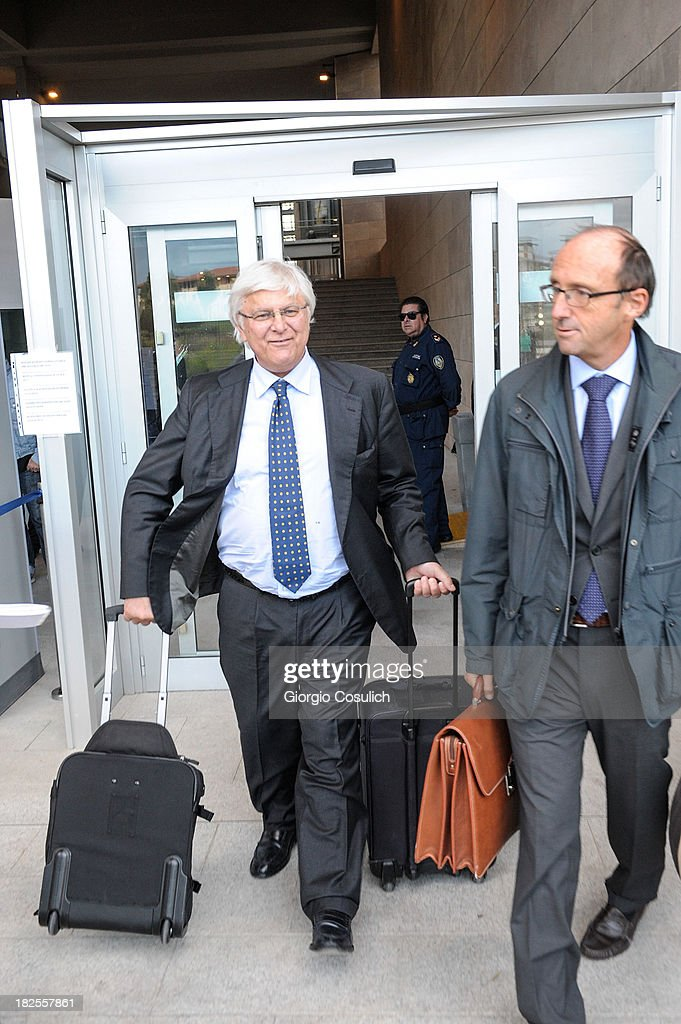 One of the defence lawyers of Amanda Knox, Luciano Chirga, leaves the new Courthouse at the end of the appeal trial of Amanda Knox and Raffaele Sollecito on September 30, 2013 in Florence, Italy. Both Knox and Sollecito had their convictions overturned and were released in 2011 after four years in prison. Knox has no plans to return to Italy for their retrial and will be represented by her laywers in court.