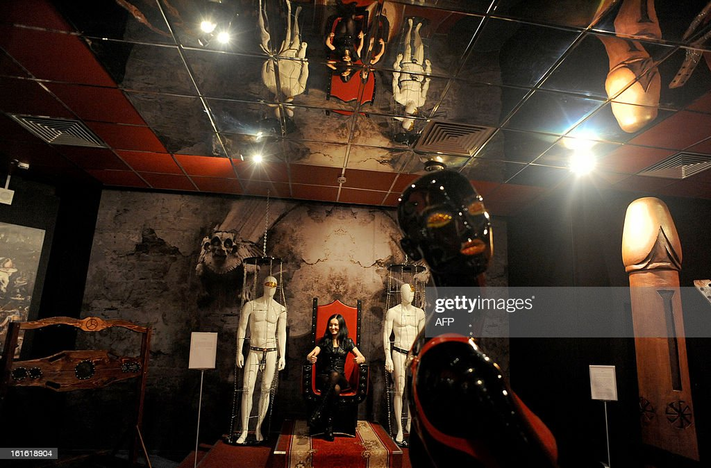 One of the displays at the 'MuzEros', an erotic museum, shortly after its opening in Russia's second city of St. Petersburg on February 13, 2013. The museum exhibits a collection of sexual artifacts from around the world, the museum organizers said. AFP PHOTO / OLGA MALTSEVA