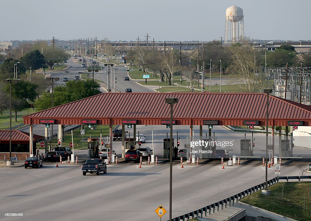 One of the entrances to Fort Hood is seen, where Iraq war veteran, Ivan Lopez, killed three on the base and wounded 16 before taking his own life on April 3, 2014 in Fort Hood, Texas. The investigation continues into why Lopez did the shooting on the base.