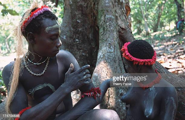 One of the few artistic skills of the Jarawas is face and body painting usually done at the end of the day with a kind of cream made from water and...