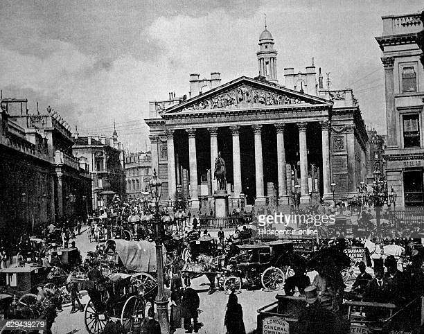 One of the first autotype photographs of the royal exchange in london england united kingdom circa 1880