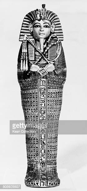 One of the four miniature coffins which held the viscera removed from the body of 18th dynasty Egyptian pharaoh Tutankhamun circa 1970