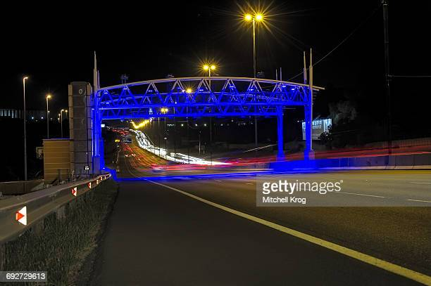 One of the highly Controversial Electronic Tolling Gantries (E-Tolls) on the N3 Highway, Johannesburg, Gauteng Province, South Africa