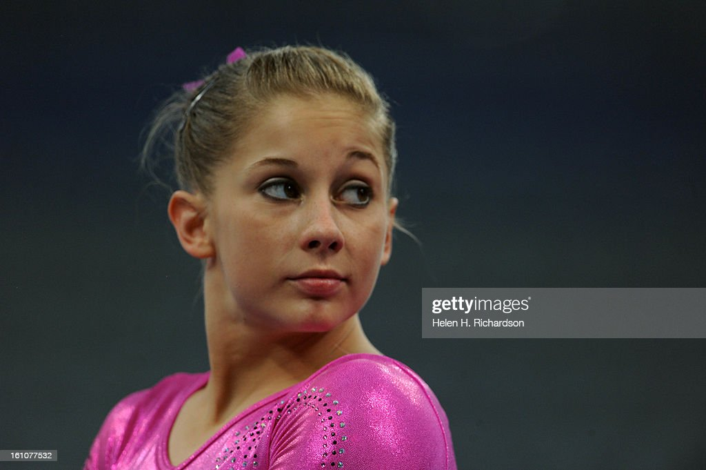 One of the hopeful medalists for the United States is gymnast <b>Shawn Johnson</b>. - one-of-the-hopeful-medalists-for-the-united-states-is-gymnast-shawn-picture-id161077532