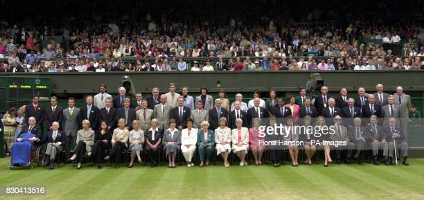 One of the largest gatherings of Wimbledon tennis champions took part in a special Champions' Parade to celebrate the Millennium Championships at...