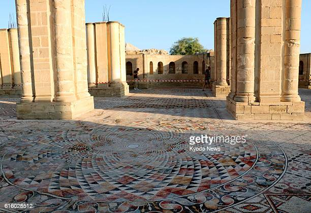 One of the largest mosaics in the Middle East located in the openair Great Bath Room of Jericho's famed Hisham Palace in the West Bank is unveiled on...