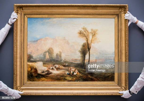 One of the last major paintings by JMW Turner left in private hands Ehrenbreitstein is unveiled at Sotheby's on June 30 2017 in London England The...