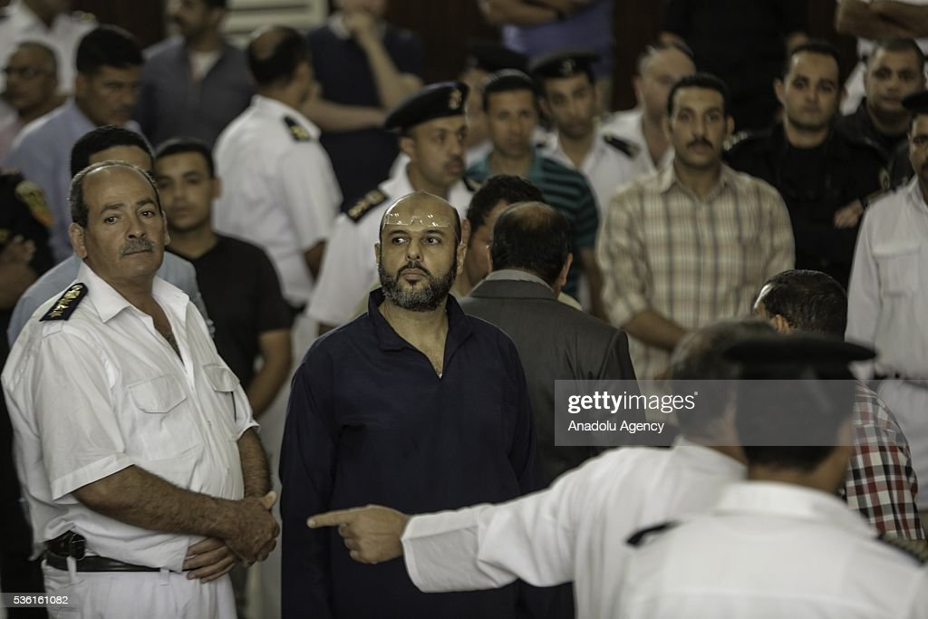 One of the leaders of the Muslim Brotherhood, Amr Zaki is seen during the trials of Muslim Brotherhood members at the Police Academy in the capital Cairo, Egypt on May 31, 2016.