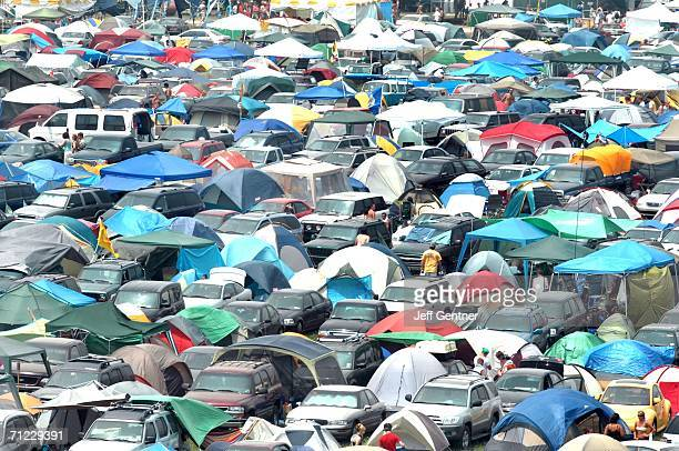 One of the many campgrounds known as 'Tent City' during the second day of the 2006 Bonnaroo Music Arts Festival on June 17 2006 in Manchester...