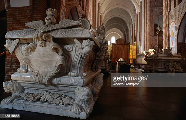 One of the many royal tombs in Roskilde's Cathedral