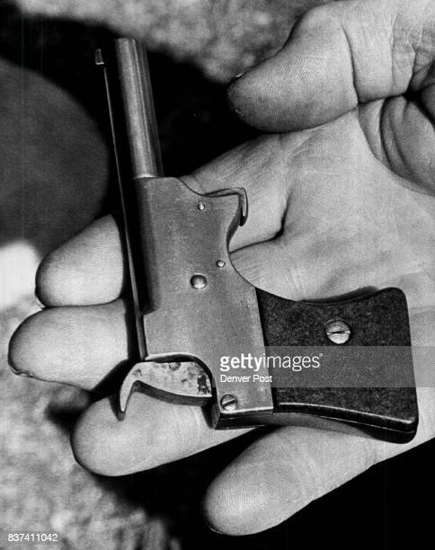 One of the many weapons invented by Donaldson is this breechless 22caliber pistol which uses no firing pen Donaldson once worked as a freelance...