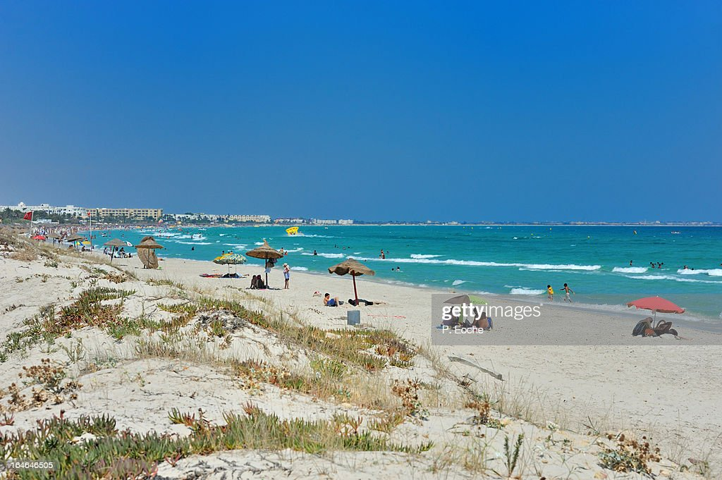 one of the most beautiful beach resort tunissienne : Stock Photo