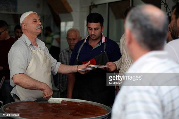 One of the most famous shops in the industry and selling Kunafa in Nablus's old town West Bank on May 31 2015 Nablus city northern of the Palestinian...