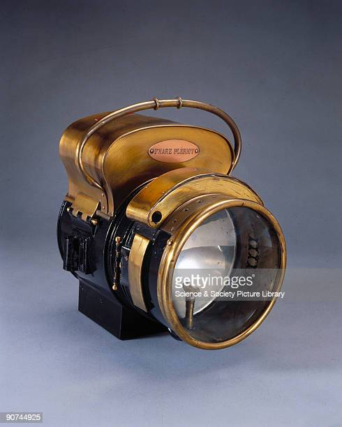 One of the original selfcontained motor car headlamps made by Louis Bleriot in 1896 and containing the type of acetylene divingbell generator...