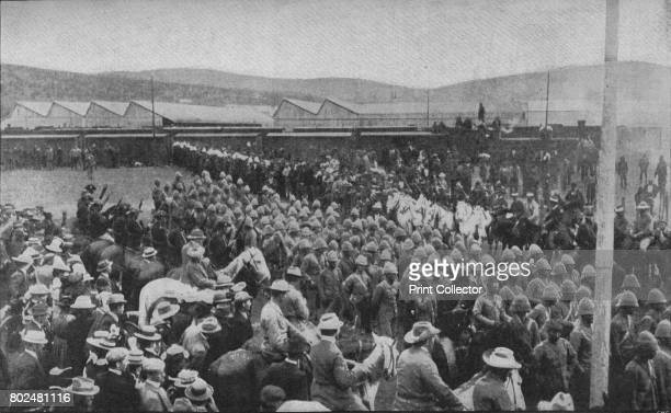 'One of the Painful Incidents of the War Captured British Troops Being Marched Into Pretoria' 1902 The Second Boer War South Africa From Battles of...