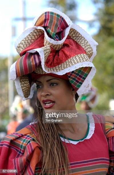 One Of The Participants Wearing The Jamaican National Costume During The Cultural Presentation Given In Honour Of The Queen In The Gardens Of The...