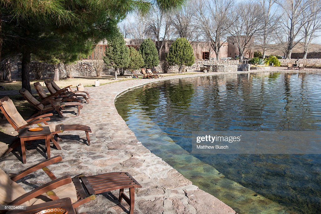 One of the ponds outside the 'El Presidente' suite where Supreme Court Justice Antonin Scalia was found dead at Cibolo Creek Ranch the day following his passing at the West Texas Resort ranch that stretches over 30,000 acres, February 14 , 2016 in Shafter, Texas. Justice Scalia was 79.