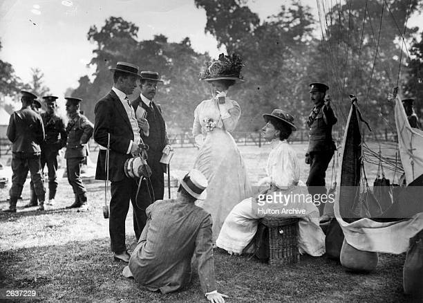 One of the teams for the Balloon Hare Hounds game played at Hurlingham are the Hon Mrs Assheton Harbord and the Hon Mrs Yorke