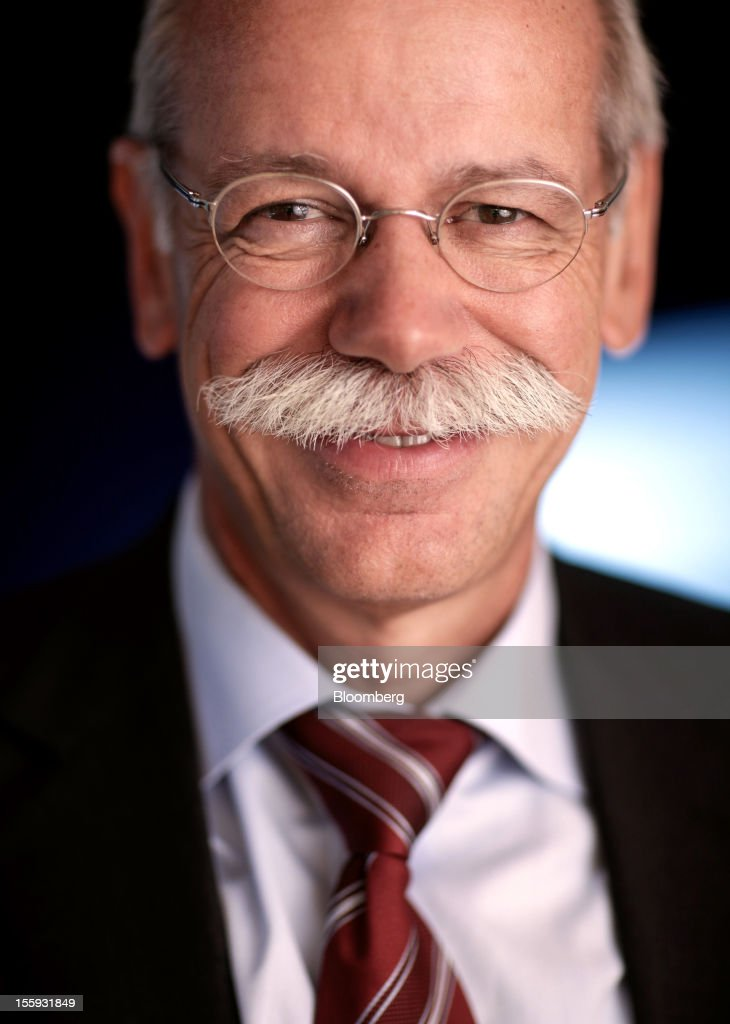 EDITORS' GUILD AWARDS 2012. One of the winning set of five photographs for the 'Bloomberg Business Photographer of the Year' by photographer Jason Alden. Picture Shows: Dieter Zetsche, chief executive officer of Daimler AG, poses for a photograph following an interview at the Daimler Mercedes Benz AG stand during the Frankfurt Motor Show in Frankfurt, Germany, on Wednesday, Sept. 14, 2011. Photographer: Jason Alden/Bloomberg via Getty Images
