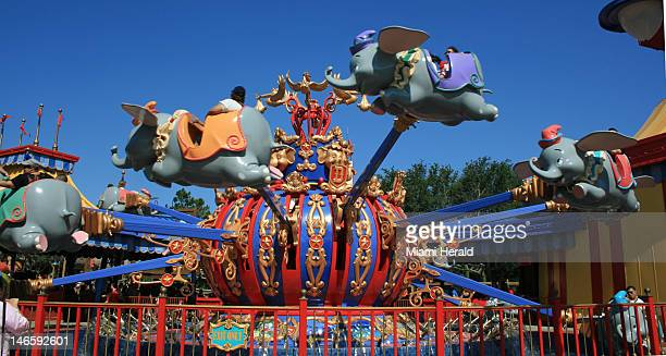 One of two Dumbo the Flying Elephant rides was among the first elements of the Fantasyland expansion at Walt Disney World to open this spring
