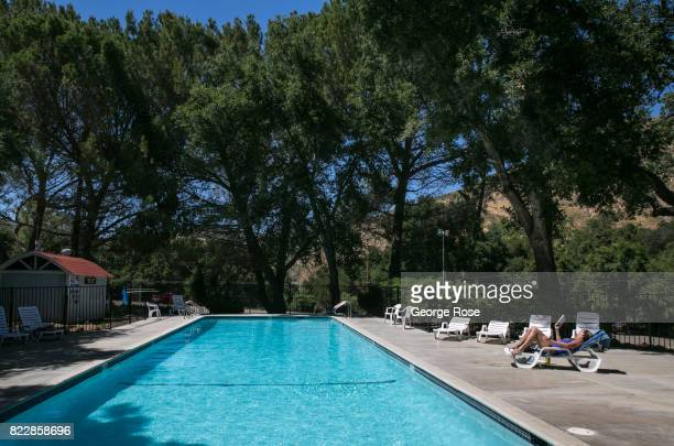 One of two pools at Rancho Oso Resort in Santa Barbara County's backcountry is viewed on May 13 near Santa Ynez California Located 45 minutes north...