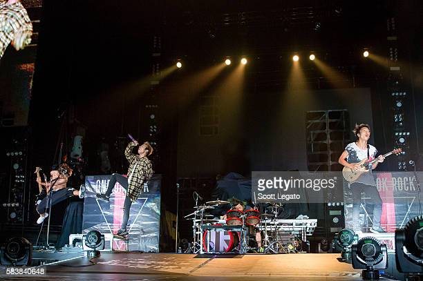 One OK Rock perform at The Palace of Auburn Hills on July 27 2016 in Auburn Hills Michigan