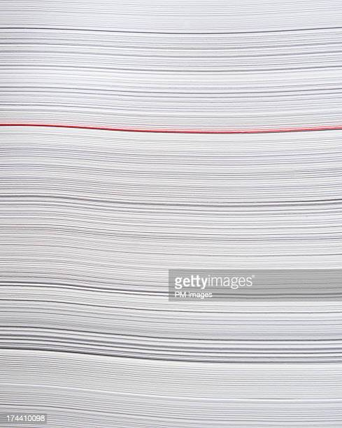 One red sheet of paper