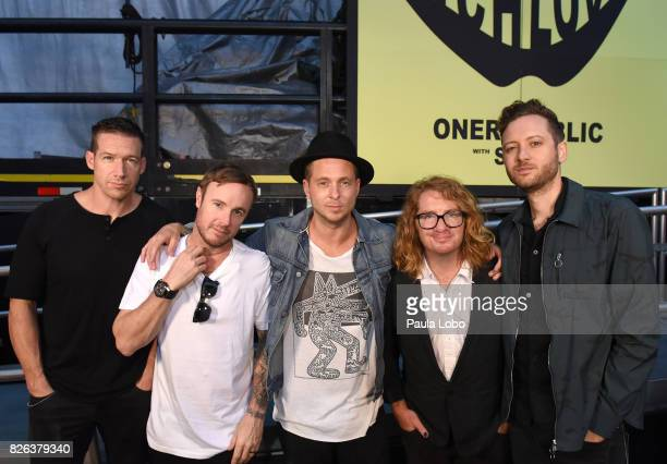 AMERICA One Republic performs live from Central Park on 'Good Morning America' Friday August 4 2017 airing on the ABC Television Network ONE