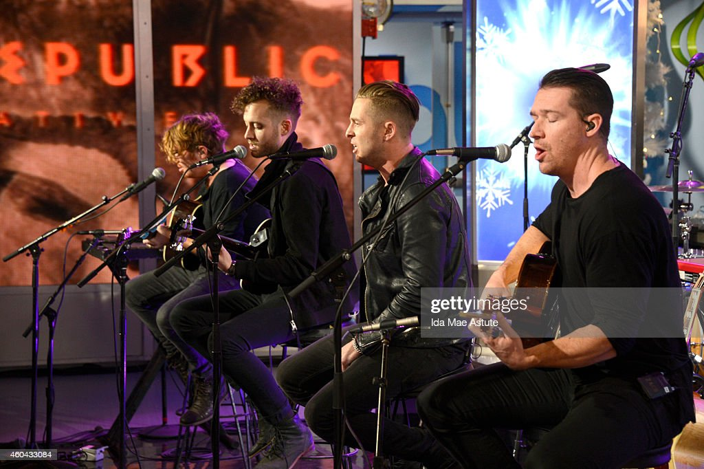 AMERICA - One Republic performs on GOOD MORNING AMERICA, 12/12/14, airing on the ABC Television Network. (