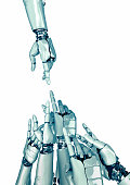 one robot hand pointing to many